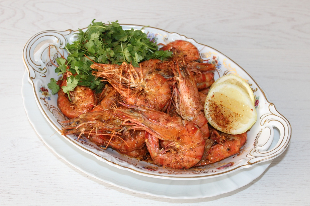 Chilli cream prawns