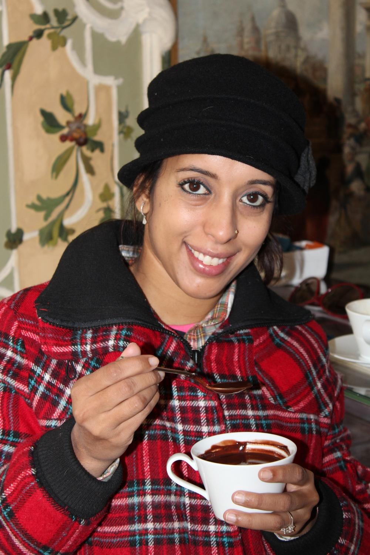 Decadently divine hot chocolate at Quadri Alajmo