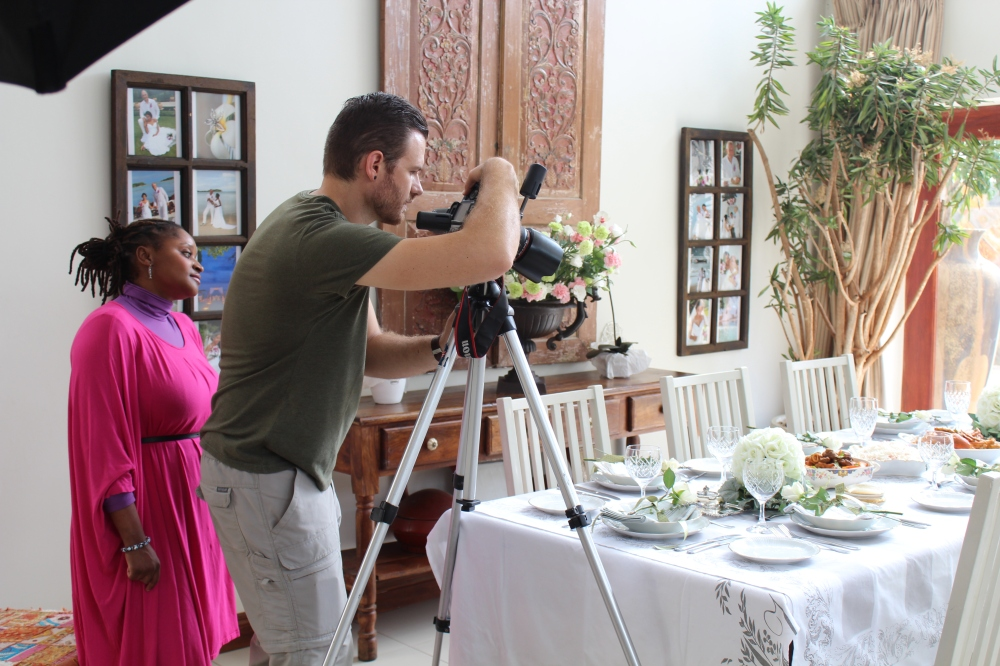 Behind the scenes with True Love - Table setting by Mechelle Theodosiou