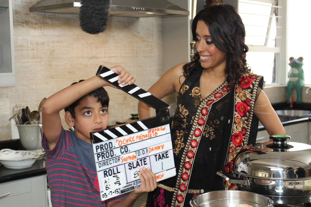 My son, Rushil Sujanani on the job with Sugar 'n Spice and the Ochre team