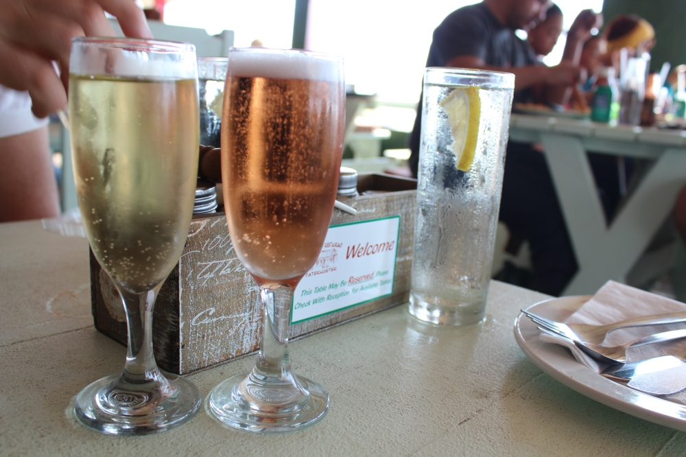 Champagne at lunch time
