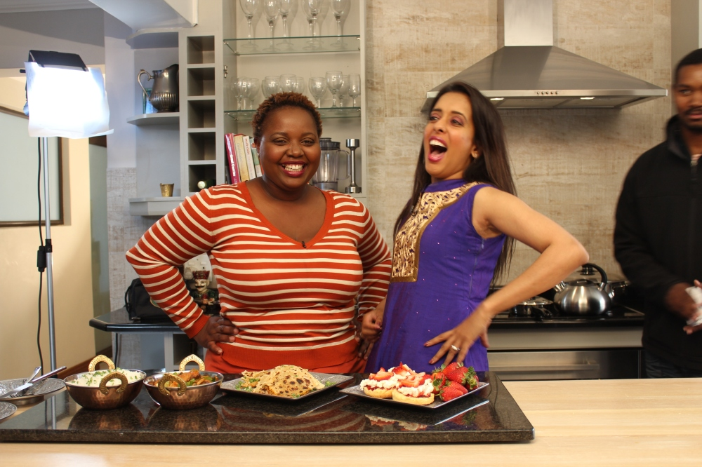 Cindy and Yudhika - Shooting kasi kitchen on Soweto TV