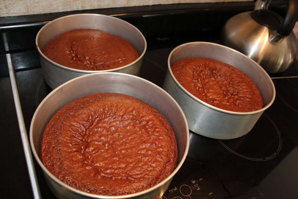 Coca Cola cakes fresh from the oven....