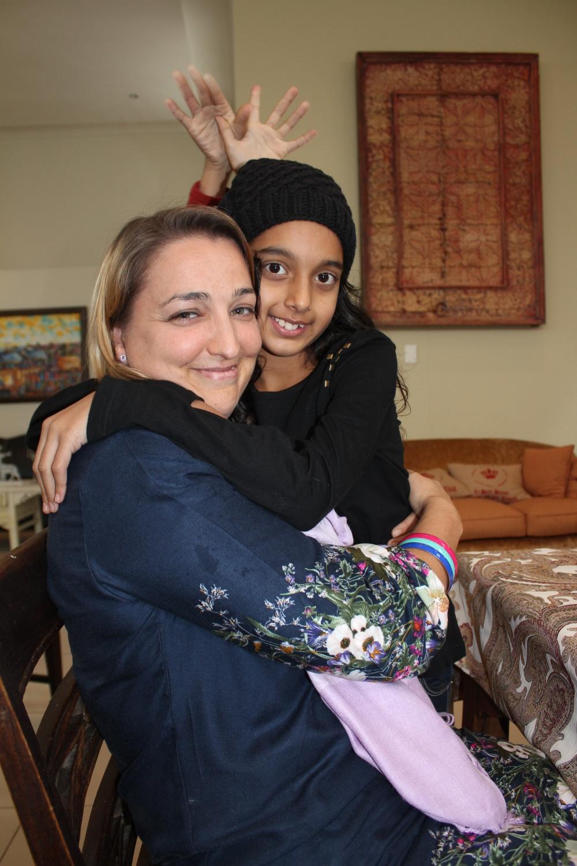 Lyn Woodward....and the Diwali princess, Tanvi Sujanani