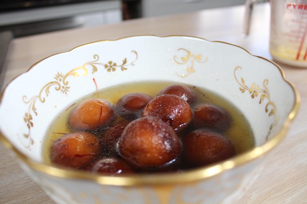 The gulab jamun....