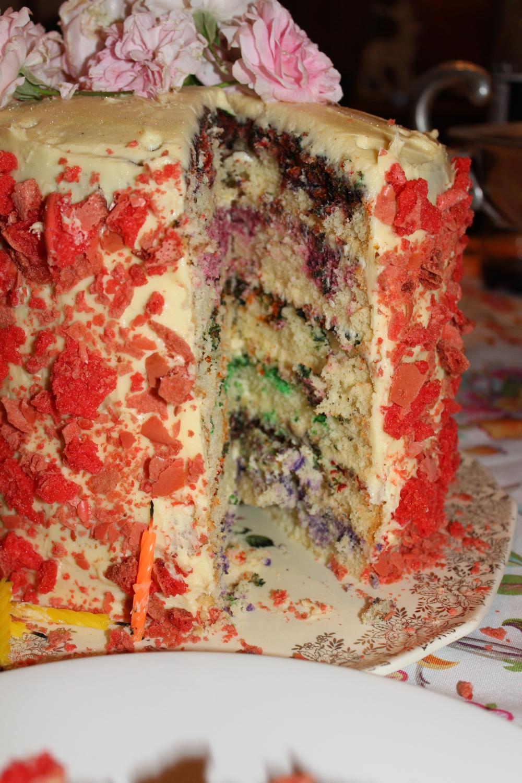 6 shades of cake....