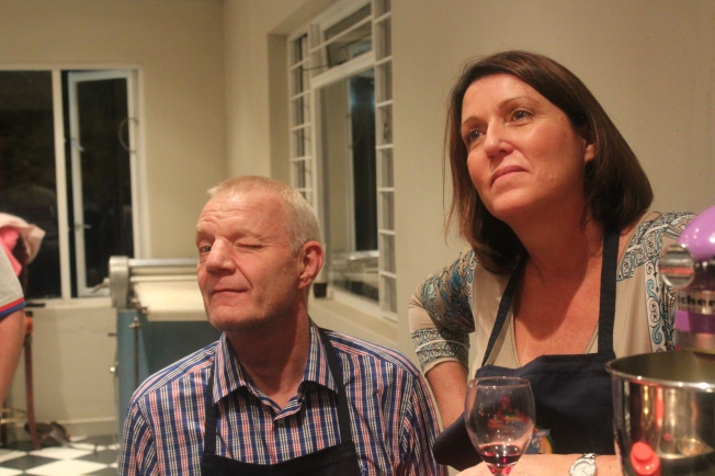 Graeme and Sara Butchart - The prawn curry pros....