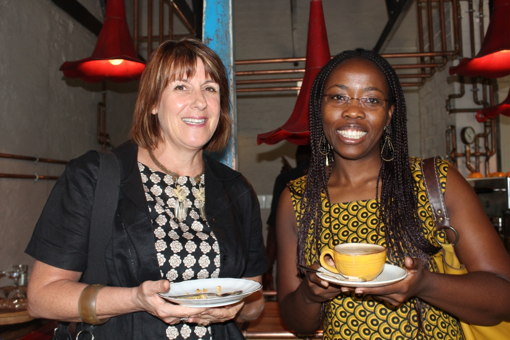 Brenda Barton, Deputy Director of United Nations World Food Programme and Nokwazi Mzobe