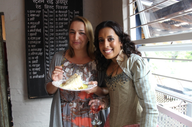 Lyn Woodward...food genius with Yudhika at Holi Cow