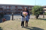 The lovely Mrs Deedat and I at Isipingo beach Intermediate School...