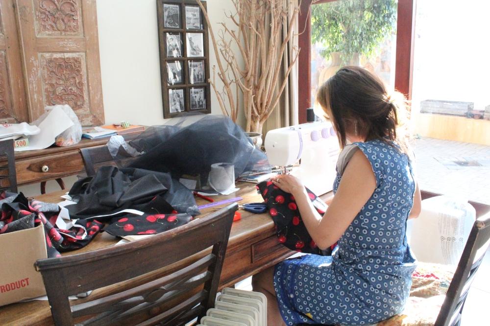Yudhika Sujanani - Foot down on the new Bernina sewing machine