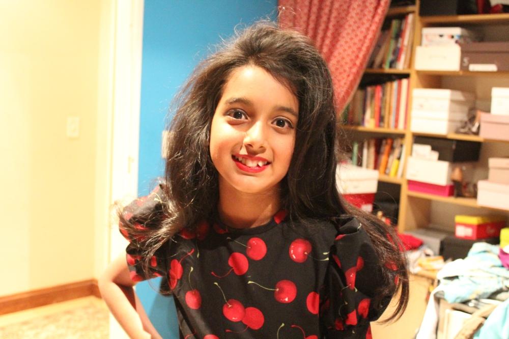 Big hair...big dress....Tanvi Sujanani