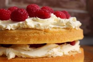 Raspberry Cream Cake by Yudhika Sujanani