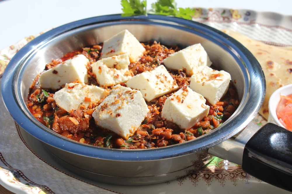 Paneer and lentil curry by Yudhika Sujanani