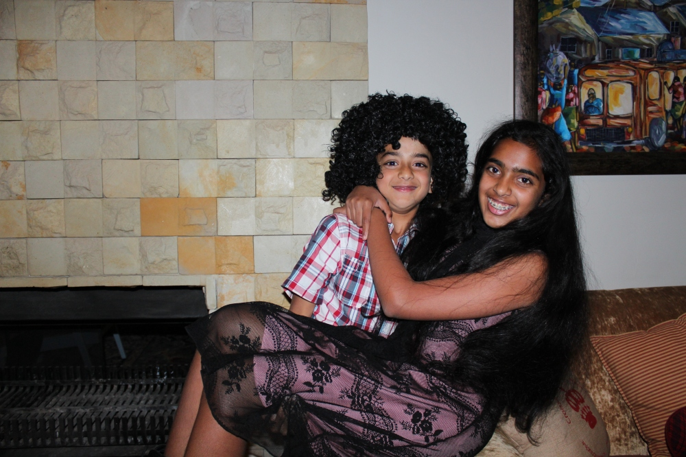 Rushil and Hetal...having some fun!