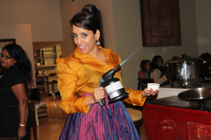 Yudhika firing up the trusted plumber's torch...