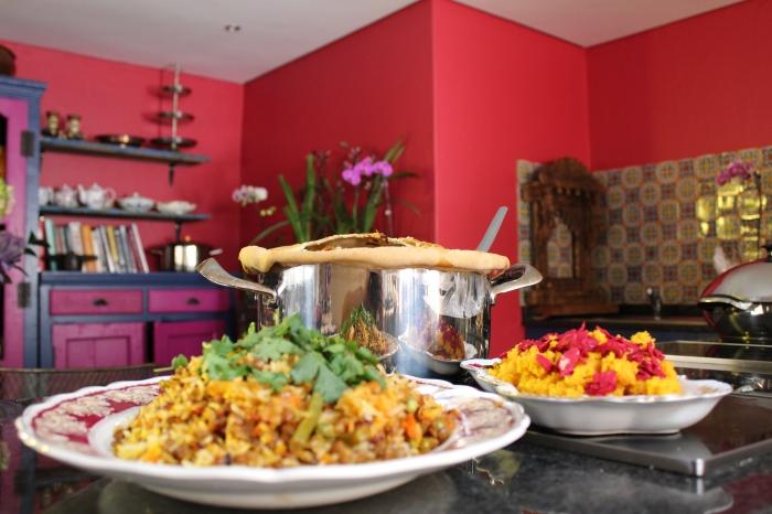 Parda Veg Breyani baked in AMC Gourmet Cookware by Yudhika Sujanani