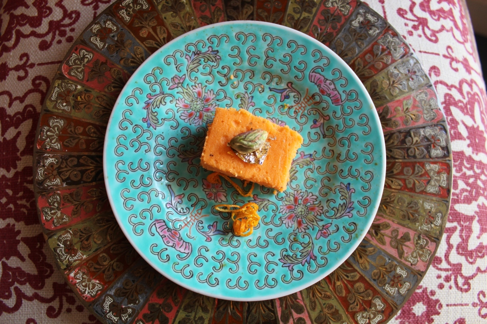 Orange Cardamom Burfee by Yudhika Sujanani