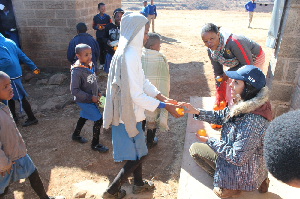 Yudhika at Montsi Primary School....Lesotho with the World Food Programme
