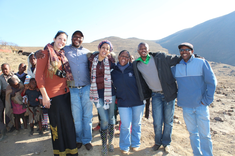 Yudhika with the WFP team in Lesotho