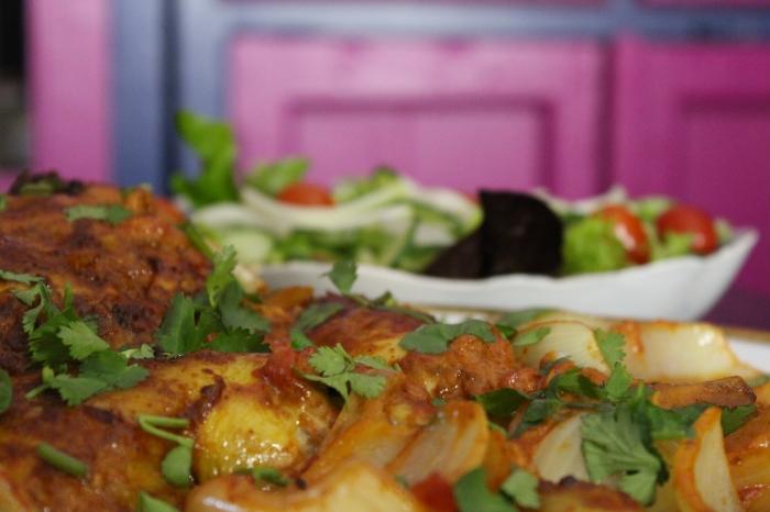 Tandoori Chicken Traybake by Yudhika Sujanani