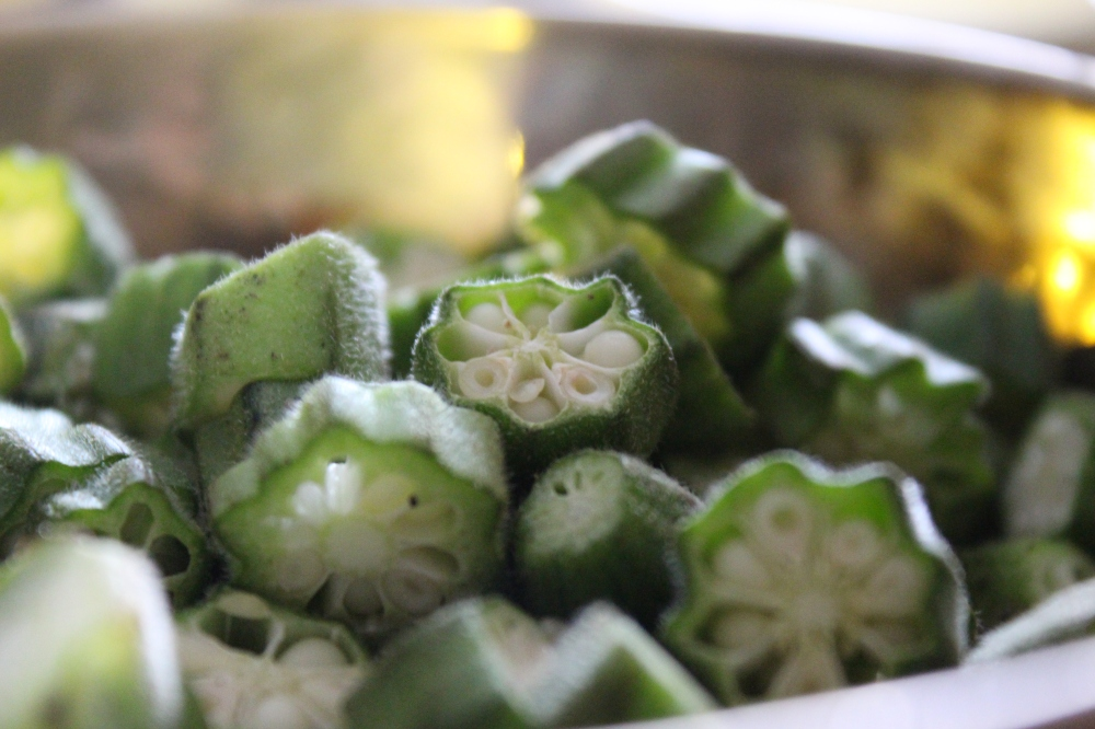 Okra on the menu....