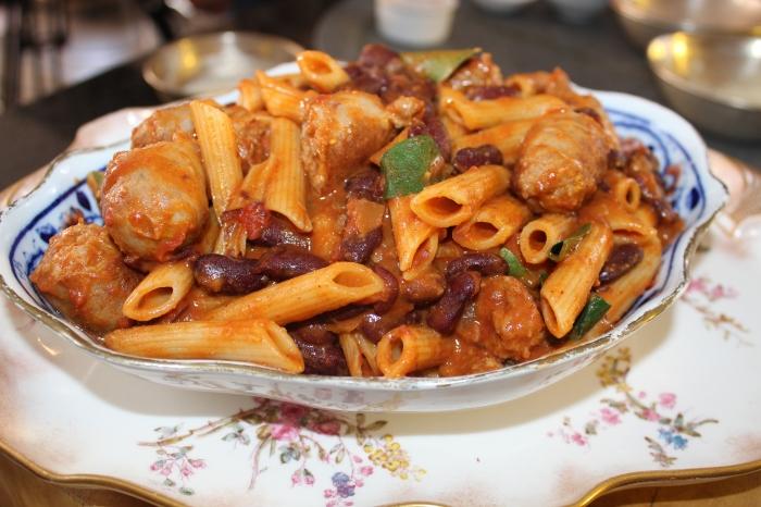 Yudhika's Sausage and Bean Pasta...back to basics on Mela
