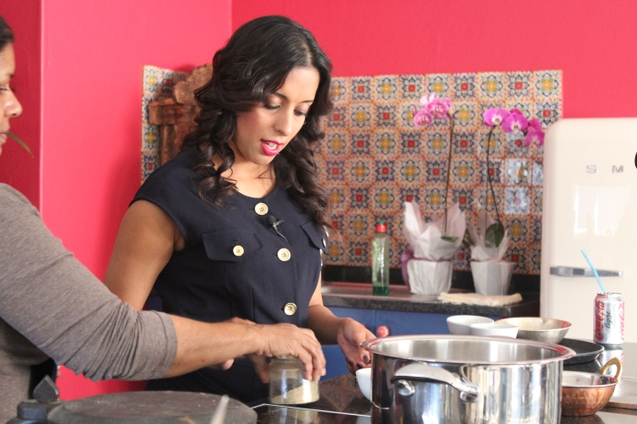 Yudhika..behind the scenes on Mela with AMC cookware