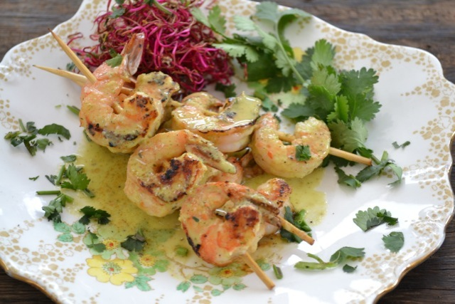 Lemongrass Prawn Skewers....by Yudhika Sujanani