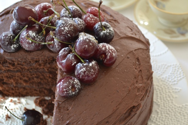 Yudhika's Cherry Chocolate Cake....