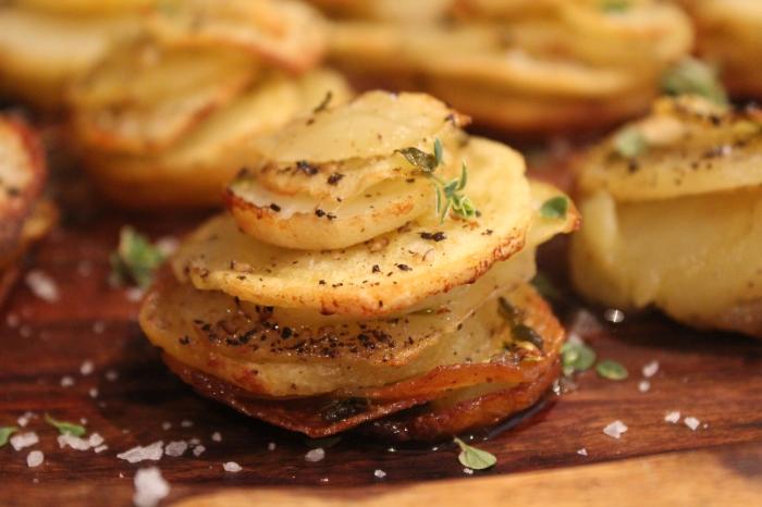 Yudhika's Garlic Potato Stacks....