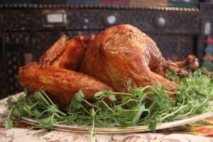 A spicy roast turkey....by Yudhika Sujanani at the Holi Cow!