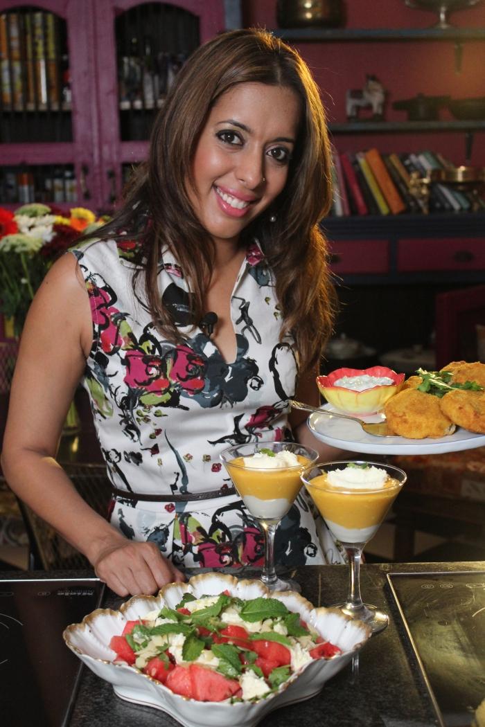 Yudhika on Mela's Summer episode on SABC 2