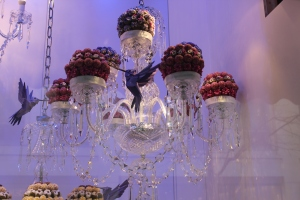 The chocolate truffle display at Harrods - how beautiful!