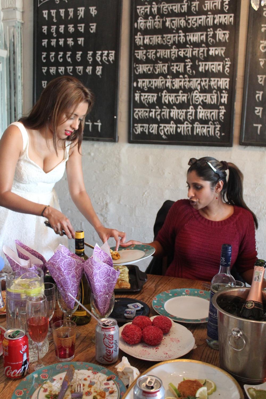 Yudhika's Durban tea party at Holi Cow...with Joanne Joseph.
