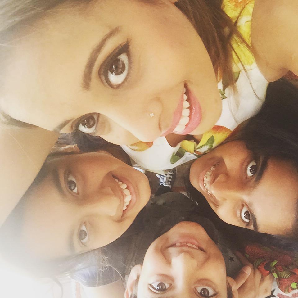 Yudhika Sujanani with Hetal, Rushil and Tanvi