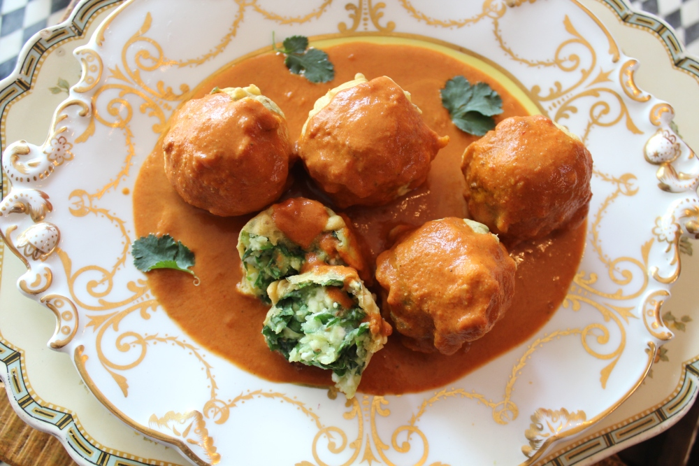 Paneer and Spinach Koftas....by Yudhika Sujanani
