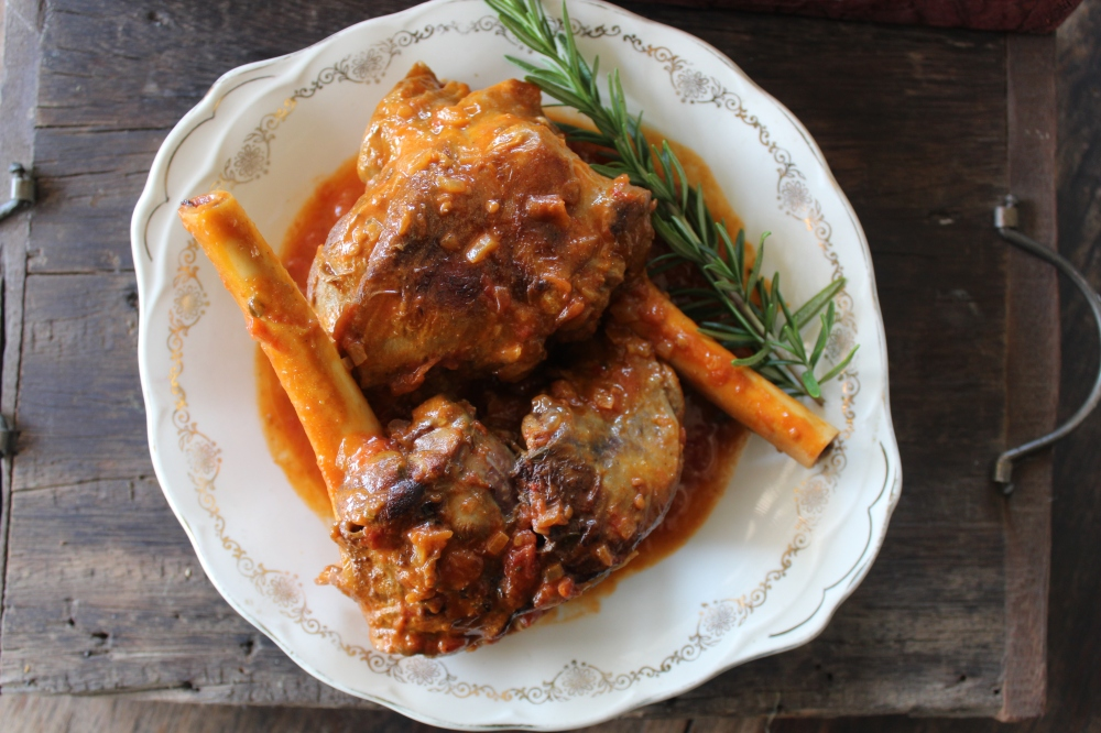 Yudhika's Greek Inspired Lamb Shanks....