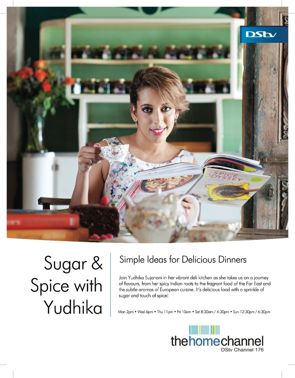 Yudhika's Sugar & Spice...check out the show times on DSTV's Channel 176