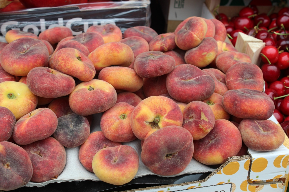 Persian peaches....at Zaman on High Street, Kensington