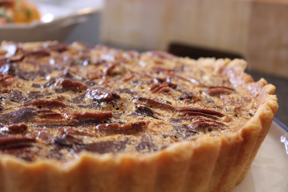 Episode one...Pecan pie with dates and chocolate by Yudhika Sujanani