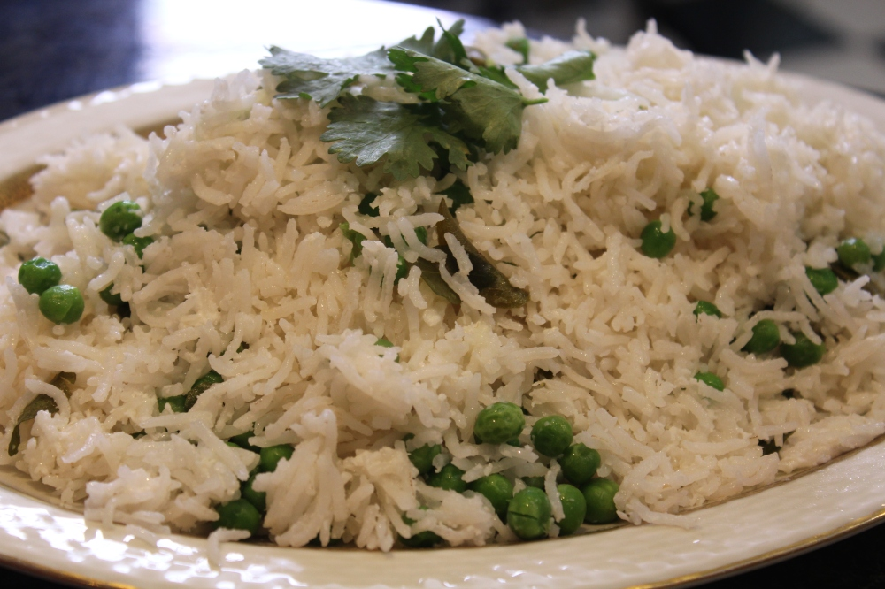 Pea and Coconut Rice by Yudhika Sujanani